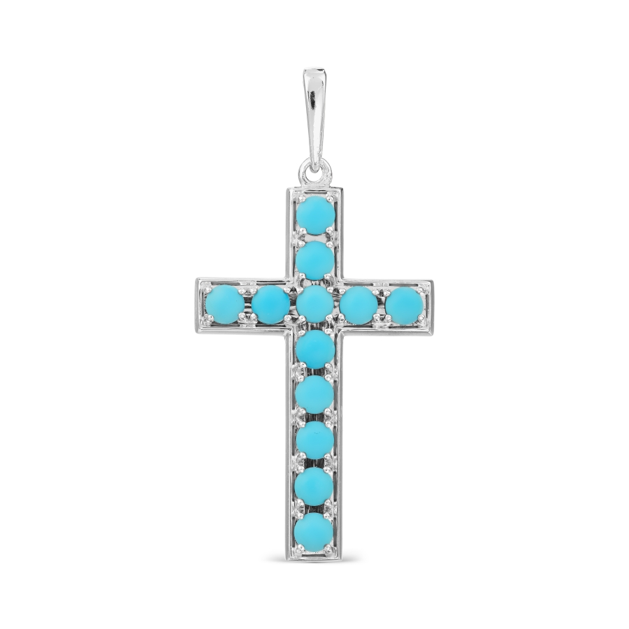Крестик с бирюзой Линии Любви, Крестики Т74206703-ЛЛ
