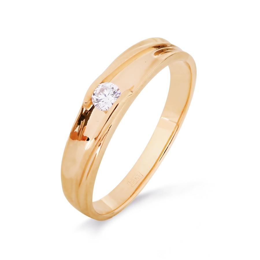 Кольцо из красного золота Линии Любви, Кольцо Т101516335