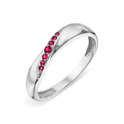 Кольцо с рубинами Линии Любви фото