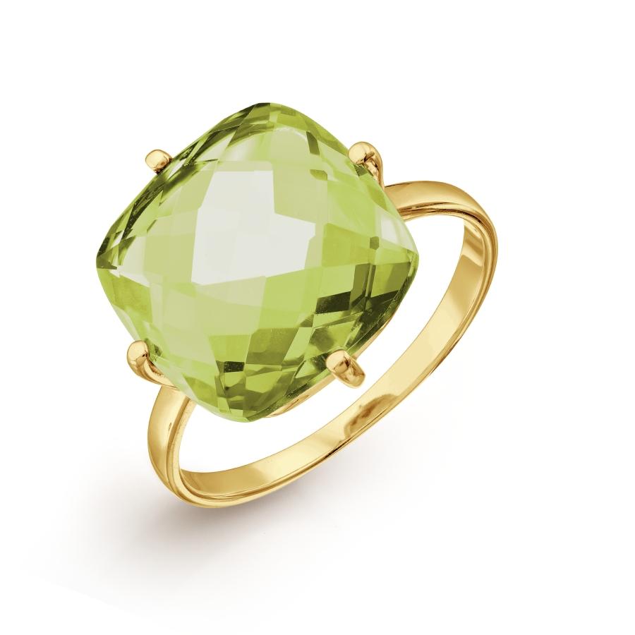 Кольцо с хризолитом ситалл Линии Любви