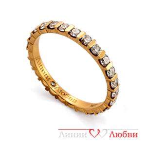 Обручальное кольцо с бриллиантами Линии ЛюбвиКольцо<br>Кольцо обручальное из золота 585 пробы с белыми бриллиантами (арт. Л11104319). Размер 15,5.<br><br>Articule: Л11104319<br>Тип: Кольцо<br>Пол: Унисекс<br>Материал: золото золото<br>Вес изделия г: 2.77<br>Вставка: белые бриллианты<br>Размеры: 22, 21, 20, 19, 18, 17, 16, 15