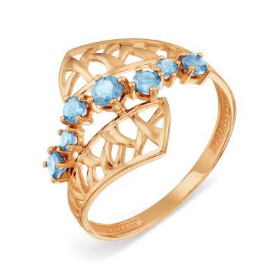 Кольцо с топазами Линии Любви фото