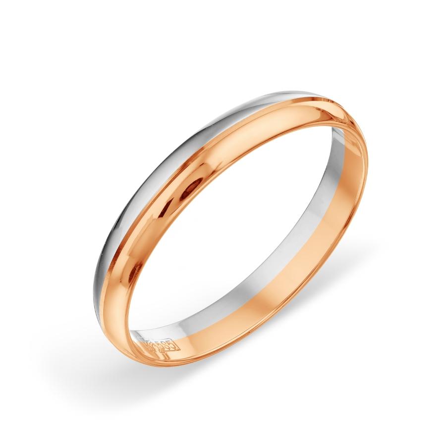 Кольцо обручальное из разных цветов золота Линии Любви фото