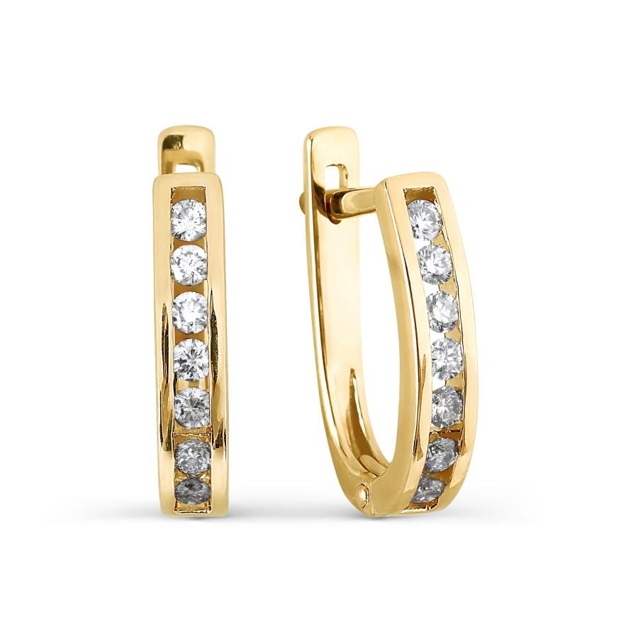 Серьги с бриллиантами Линии Любви фото