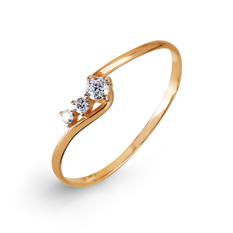 Кольцо с фианитами Линии Любви, Кольцо Т107017236