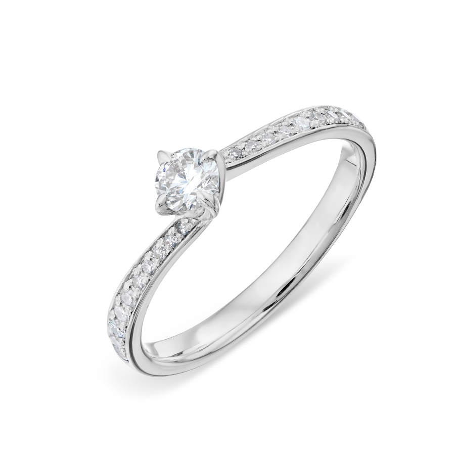 Кольцо из белого золота Линии Любви, Кольцо Т301018113