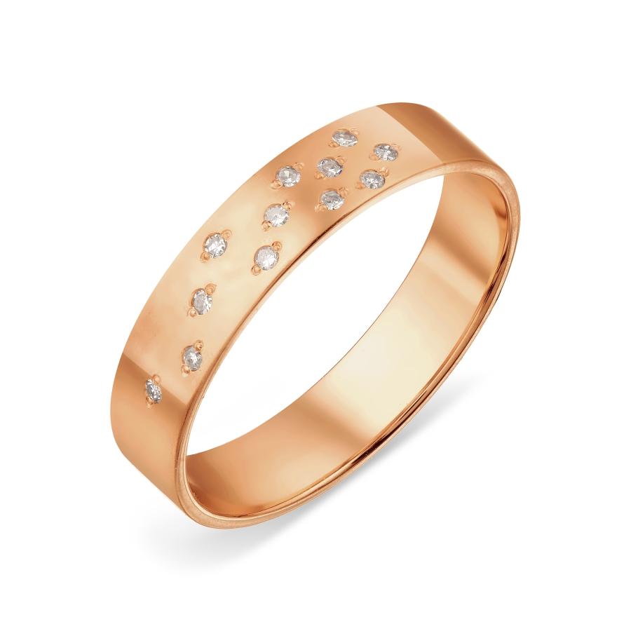 Кольцо обручальное с бриллиантами Линии Любви, Кольцо Т101019049