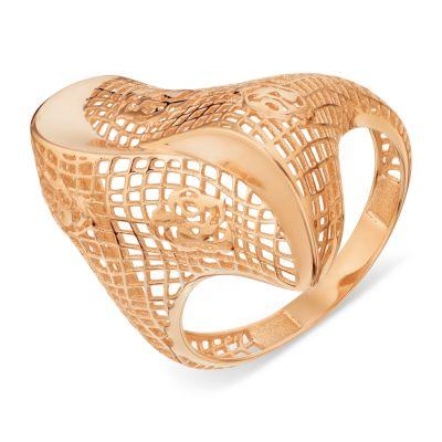 Кольцо из красного золота Линии Любви фото
