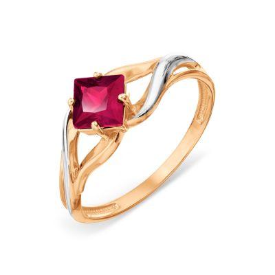Кольцо с корундом Линии Любви фото