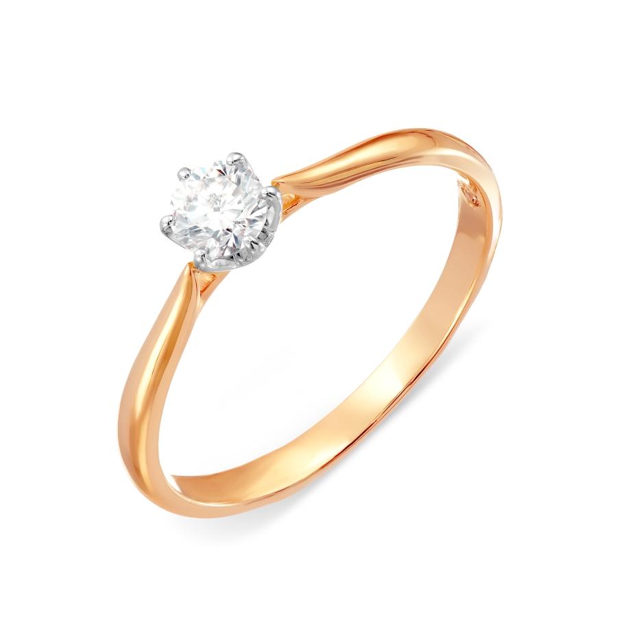 Кольцо с бриллиантами Линии Любви, Кольцо Т131017502-5