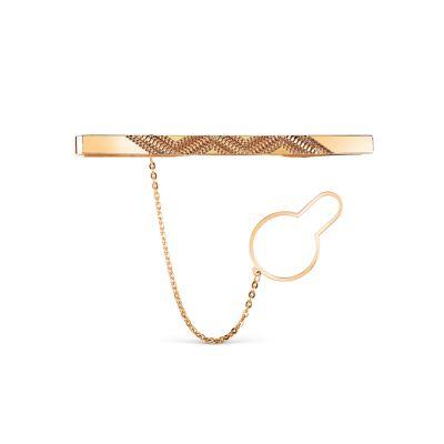 Зажим для галстука из красного золота Линии Любви