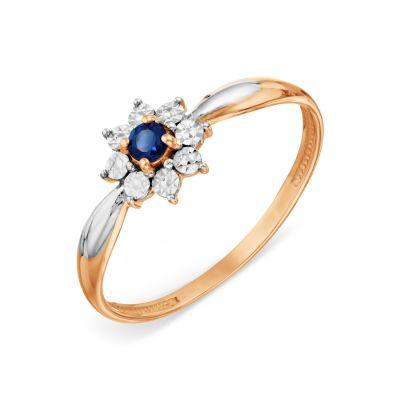 Кольцо с сапфиром Линии Любви фото