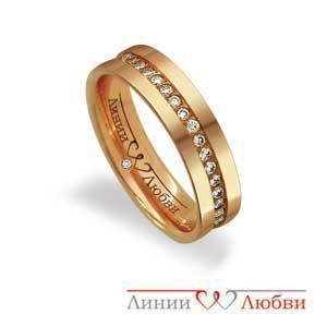 Обручальное кольцо с бриллиантами Линии ЛюбвиКольцо<br>Кольцо обручальное из золота 585 пробы с белыми бриллиантами (арт. Л11101142). Размер 18,5.<br><br>Articule: Л11101142<br>Тип: Кольцо<br>Пол: Унисекс<br>Материал: золото золото<br>Вес изделия г: 4.73<br>Вставка: белые бриллианты<br>Размеры: 22, 20, 19, 21, 18, 17, 16, 15