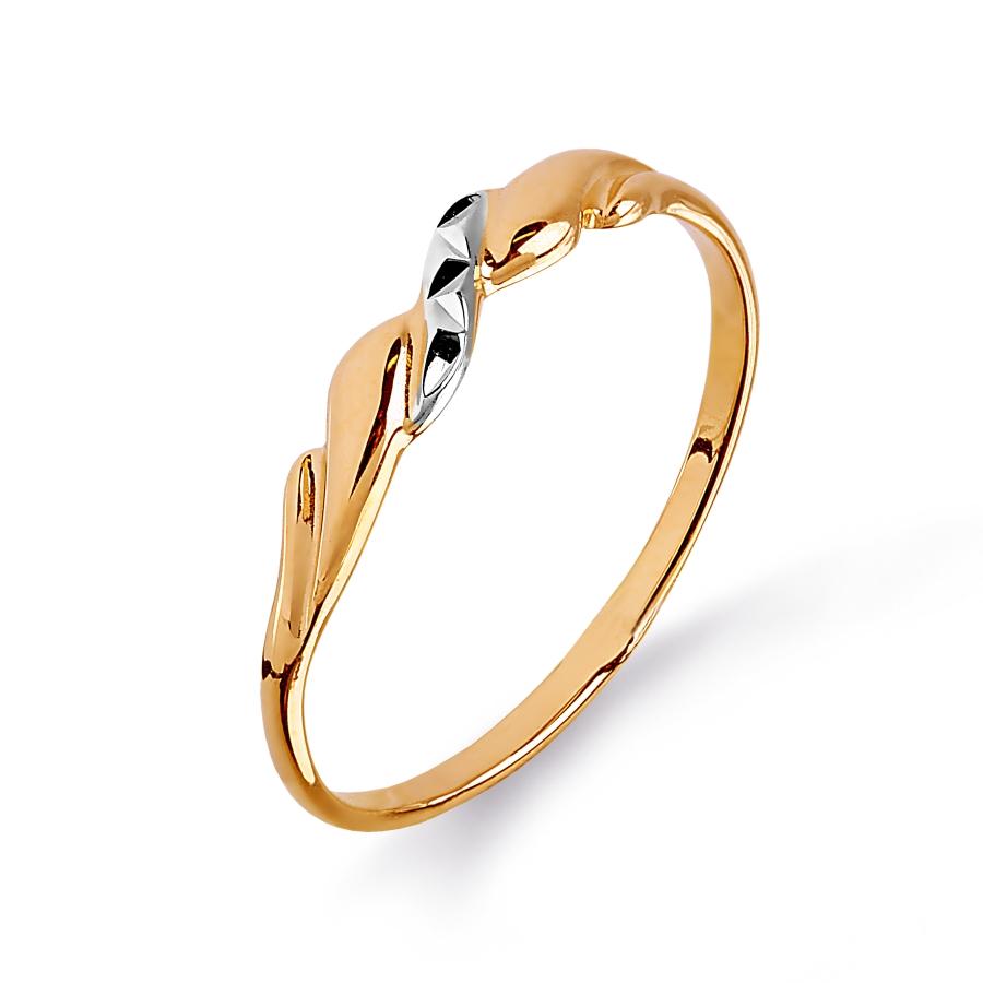 Кольцо из красного золота Линии Любви