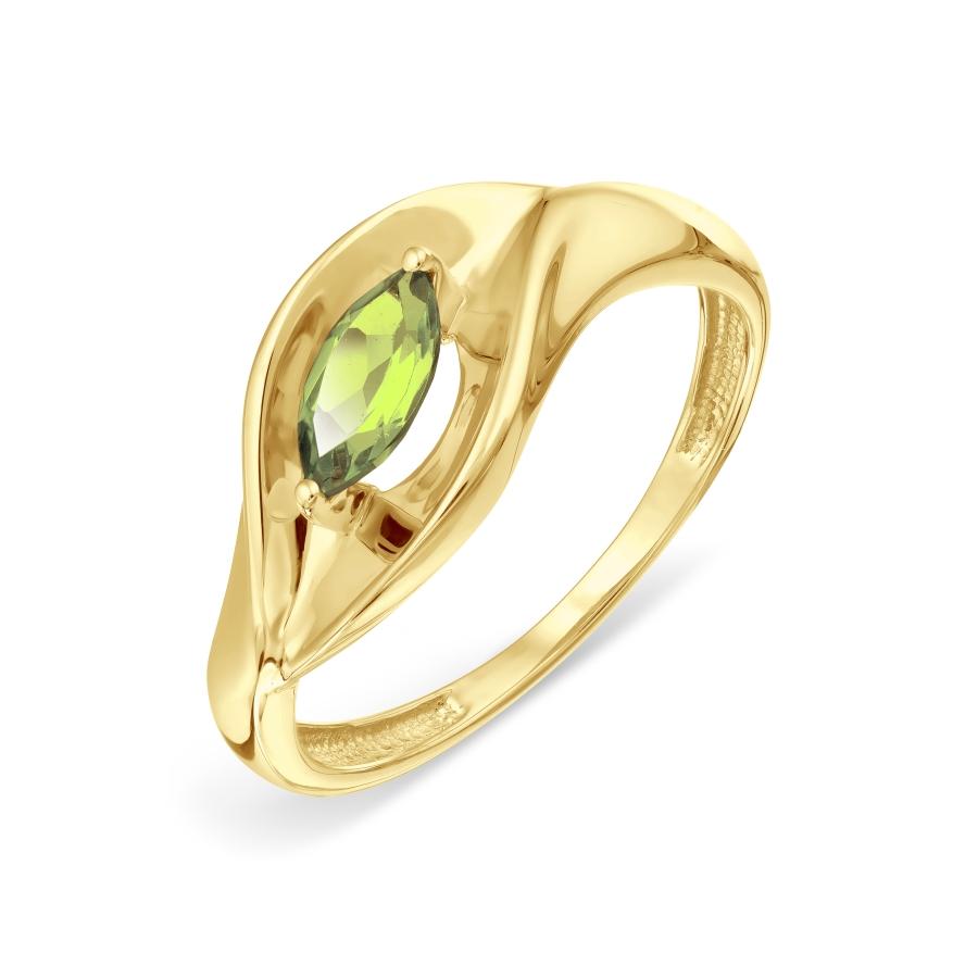 Кольцо с хризолитом Линии Любви, Кольцо Т901018511
