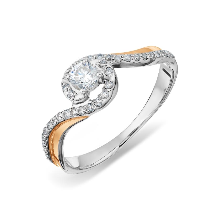 Кольцо с бриллиантами Линии Любви, Кольцо Т311017853