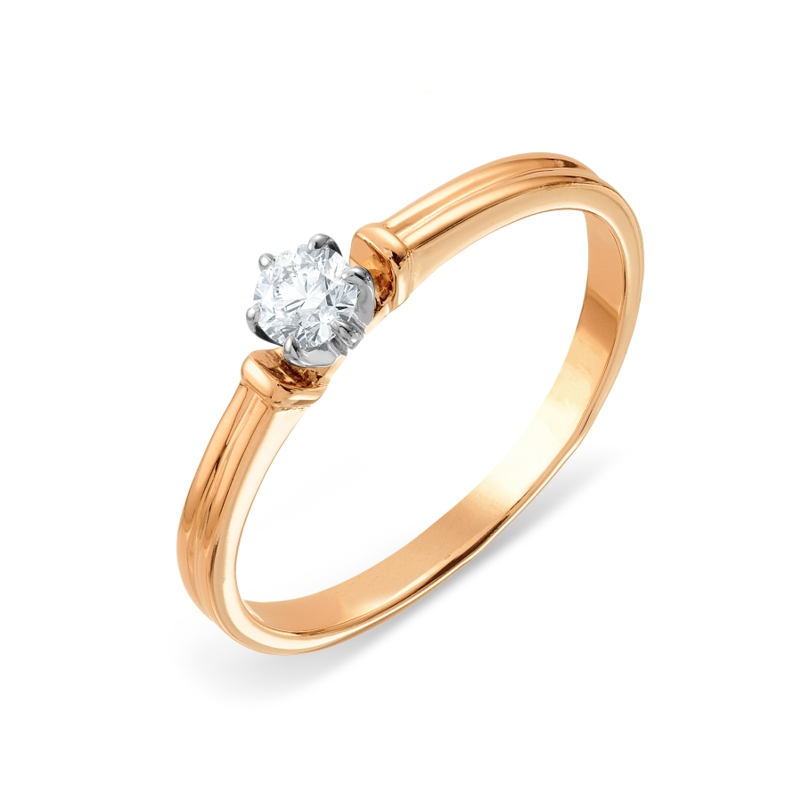 Кольцо из красного золота Линии Любви, Кольцо Т131016154