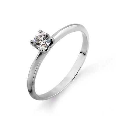 Кольцо с бриллиантом Линии Любви