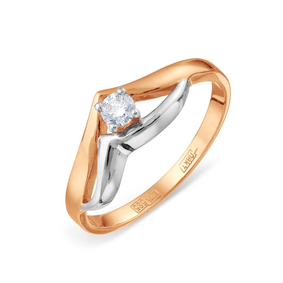 Кольцо с бриллиантом Линии Любви, Кольцо Т141011814