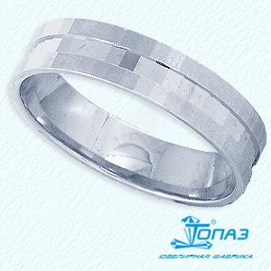 Кольцо обручальное из белого золота Линии Любви, Кольцо Т300611462