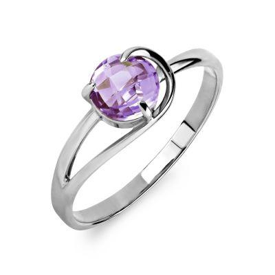 Кольцо с аметистом Линии Любви фото