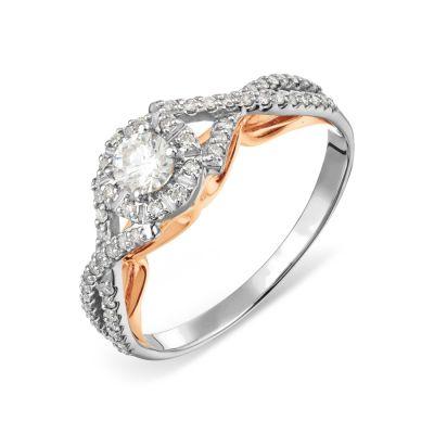 Кольцо с бриллиантами Линии Любви, Кольцо Т311017847