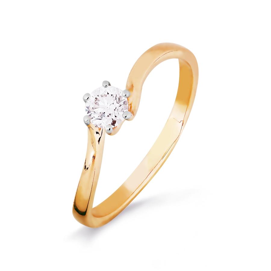 Кольцо из красного золота Линии Любви, Кольцо Т141016421