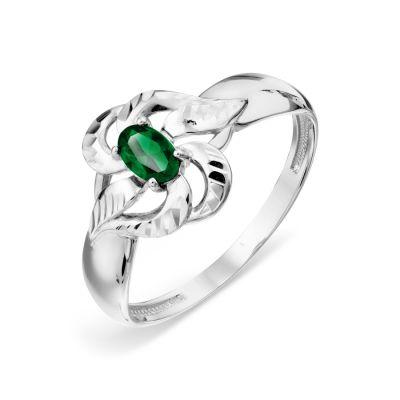 Кольцо с изумрудом Линии Любви фото