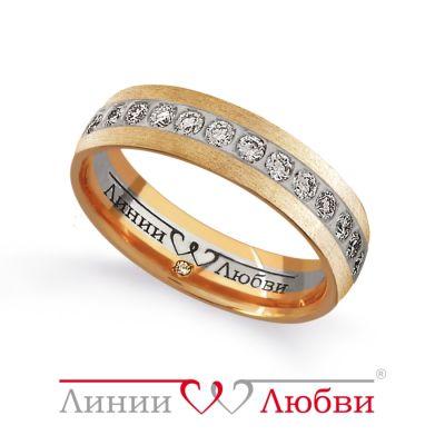 Обручальное кольцо с бриллиантами Линии ЛюбвиКольцо<br>Кольцо обручальное из золота 585 пробы с белыми бриллиантами (арт. Л23131137). Размер 15,5.<br><br>Articule: Л23131137<br>Тип: Кольцо<br>Пол: Унисекс<br>Материал: золото золото<br>Вес изделия г: 4.07<br>Вставка: белые бриллианты<br>Размеры: 22, 21, 20, 19, 18, 17, 16, 15