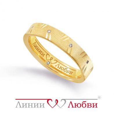 Обручальное кольцо с бриллиантами Линии ЛюбвиКольцо<br>Кольцо обручальное из золота 585 пробы с белыми бриллиантами (арт. Л11151201). Размер 17.<br><br>Articule: Л11151201<br>Тип: Кольцо<br>Пол: Унисекс<br>Материал: золото золото<br>Вес изделия г: 4.8<br>Вставка: белые бриллианты<br>Размеры: 19, 15