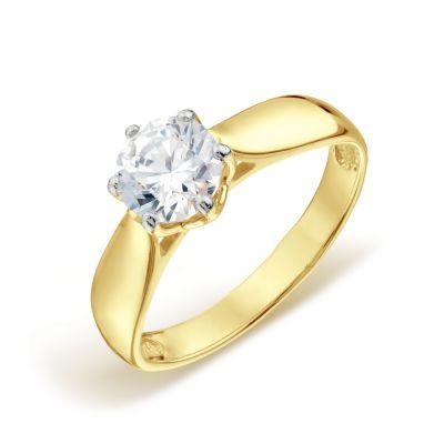 Кольцо с Swarovski Zirconia Линии Любви фото
