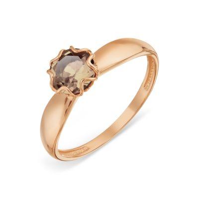 Кольцо с раухтопазом Линии Любви фото