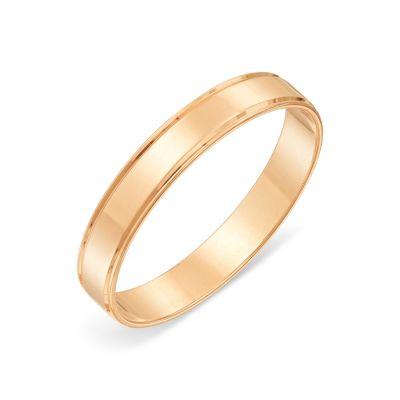 Кольцо обручальное из красного золота Линии Любви фото