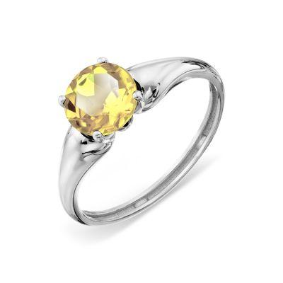 Кольцо с цитрином Линии Любви