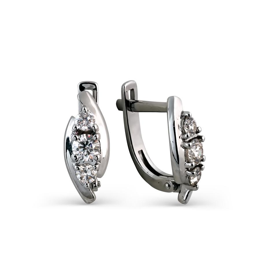 Серьги с бриллиантами Линии Любви, Серьги Т301024967