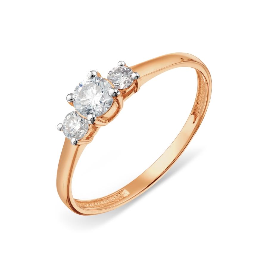 Кольцо с бриллиантами Линии Любви, Кольцо Т141018125-ЛЛ