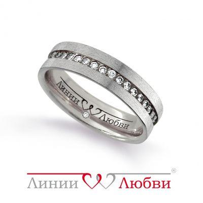 Обручальное кольцо с бриллиантами Линии ЛюбвиКольцо<br>Кольцо обручальное из белого золота 585 пробы с белыми бриллиантами (арт. Л31131143). Размер 15.<br><br>Articule: Л31131143<br>Тип: Кольцо<br>Пол: Унисекс<br>Материал: белое золото<br>Вес изделия г: 4.46<br>Вставка: белые бриллианты<br>Размеры: 22, 21, 20, 19, 18, 17, 16, 15