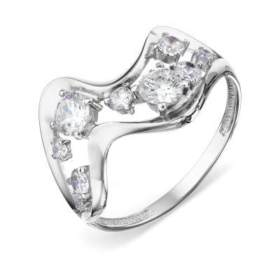 Кольцо с фианитами Линии Любви фото