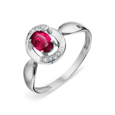 Кольцо с рубином и бриллиантами Линии Любви фото