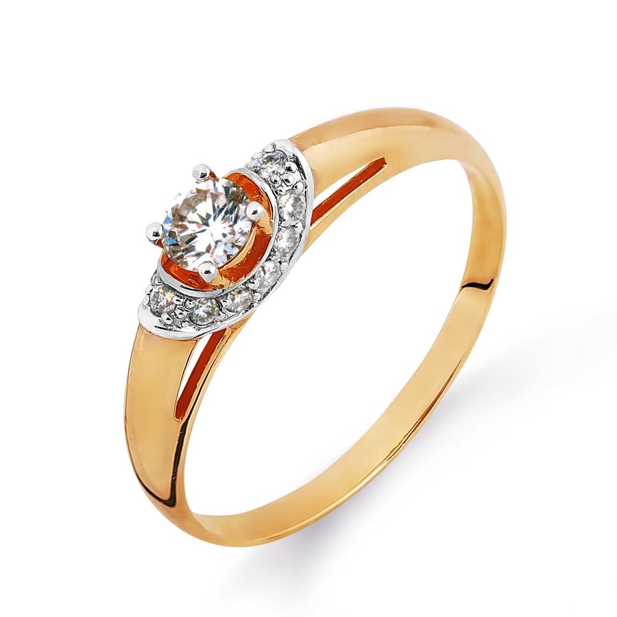 Кольцо с бриллиантами Линии Любви, Кольцо Т141014685