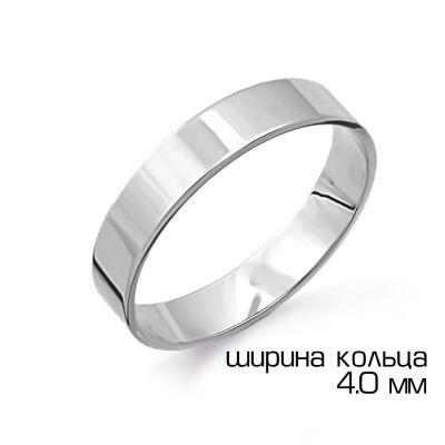 Кольцо обручальное из белого золота Линии Любви фото