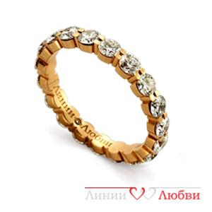 Обручальное кольцо с бриллиантами Линии ЛюбвиКольцо<br>Кольцо обручальное из золота 585 пробы с белыми бриллиантами (арт. Л11104307). Размер 15,5.<br><br>Articule: Л11104307<br>Тип: Кольцо<br>Пол: Унисекс<br>Материал: золото золото<br>Вес изделия г: 5.36<br>Вставка: белые бриллианты<br>Размеры: 22, 21, 20, 19, 18, 17, 16, 15