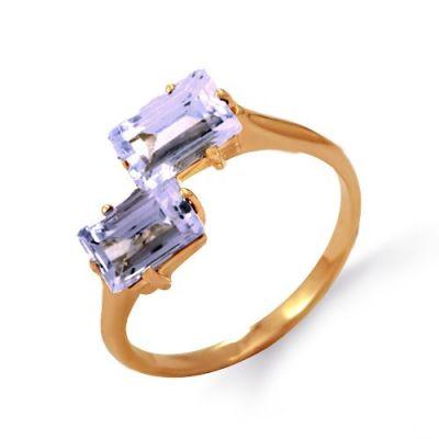 Кольцо с аметистами Линии Любви фото
