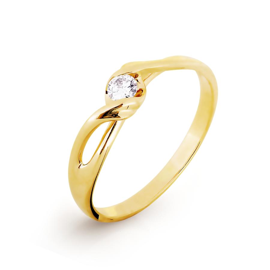 Кольцо с бриллиантом Линии Любви фото