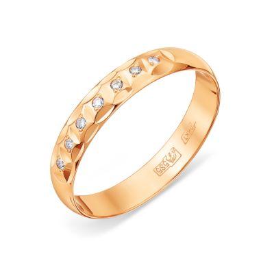 Кольцо обручальное с бриллиантами Линии Любви