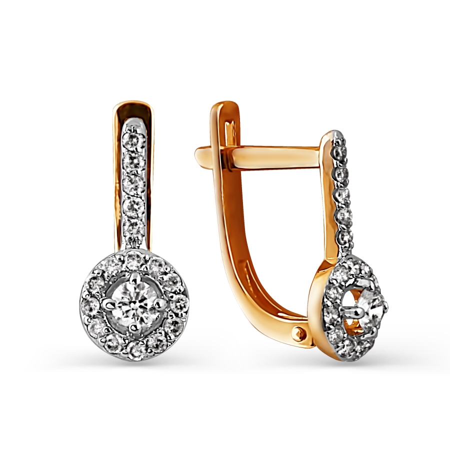 Серьги с бриллиантами Линии Любви, Серьги Т141024826