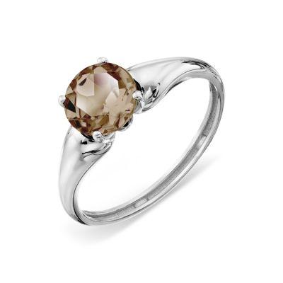 Кольцо с раухтопазом Линии Любви