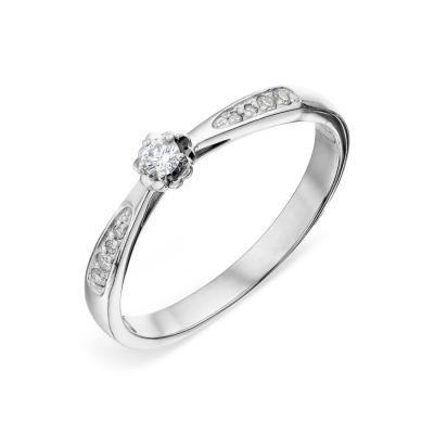 Кольцо с бриллиантами Линии Любви фото