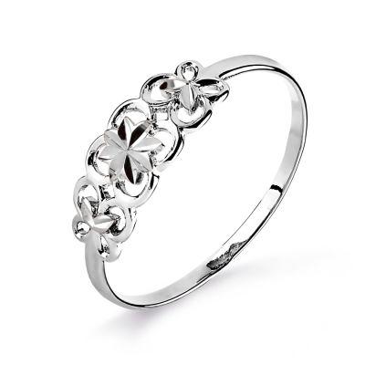 Кольцо из белого золота Линии Любви фото