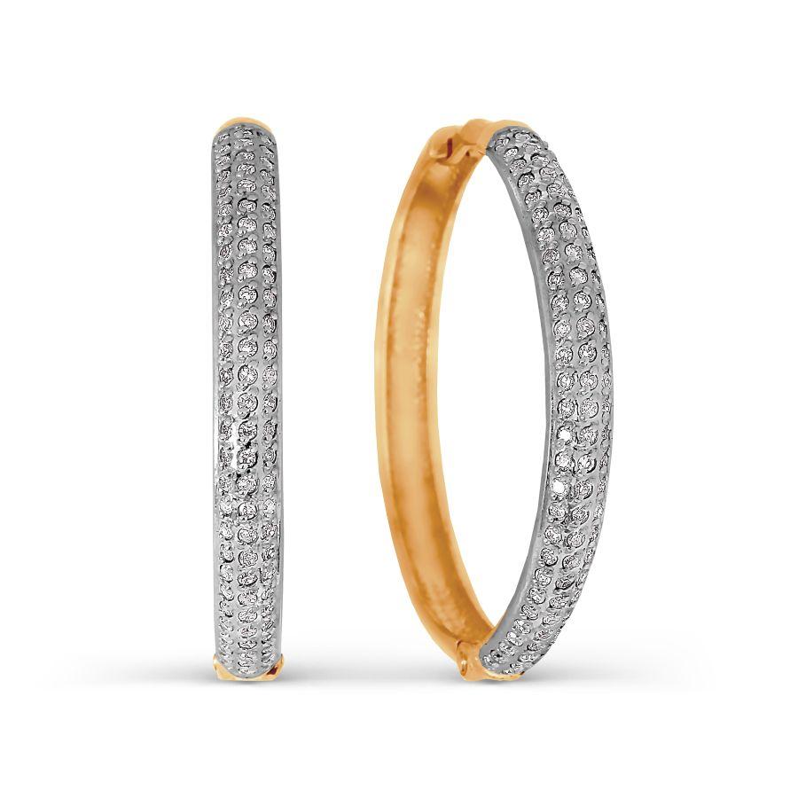 Серьги с бриллиантами Линии Любви